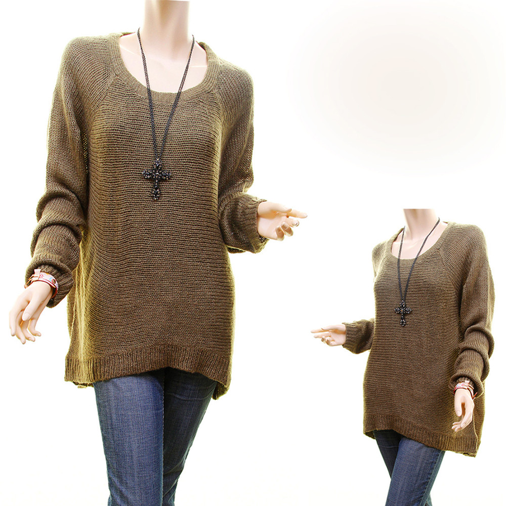 Oliver Pullover Hi-Lo Oversized Loose Knit Tunic Sweater - S66857