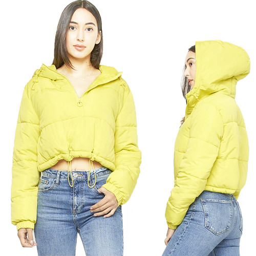 Ski Sports Neon Puffer Jacket Top