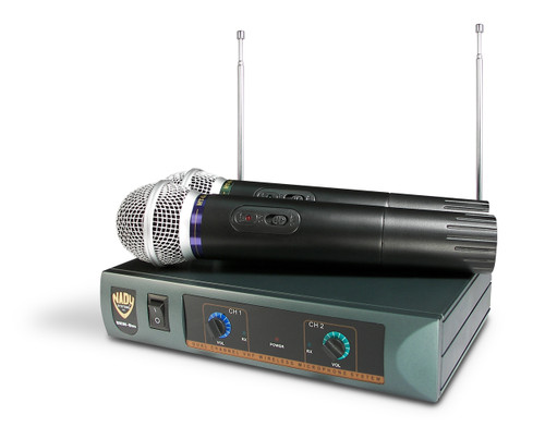 DKW-DUO-HT - Dual Wireless Handheld Microphone System (Refurbished) - FREE SHIPPING