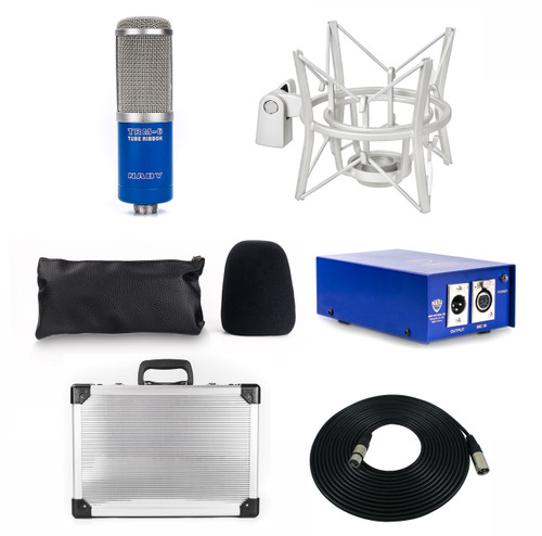 TRM-6 Vacuum Tube Ribbon Microphone w/Preamp + Flight Carry Case + XLR Cable + Shockmount