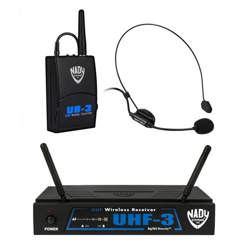 UHF-3 HM-3 Wireless Headset Microphone System (Refurbished) - FREE SHIPPING