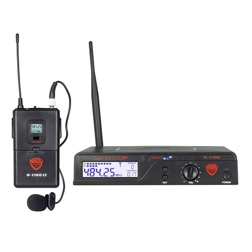 NADY U-1100-LT - 100-Channel Wireless Lapel Microphone System - FREE SHIPPING