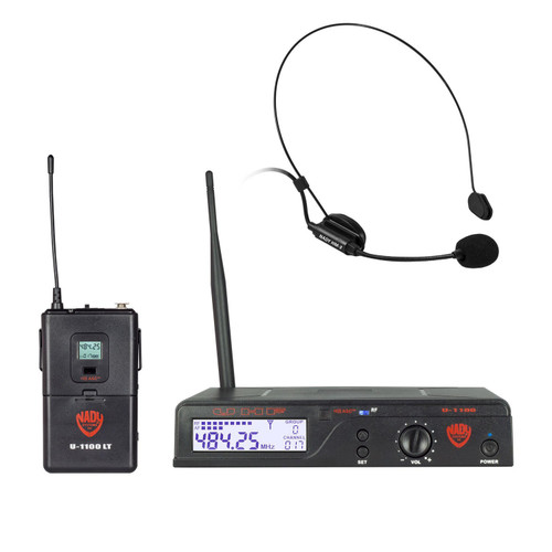 NADY U-1100-HM3 - 100-Channel Wireless Headset Microphone System (Refurbished) - FREE SHIPPING