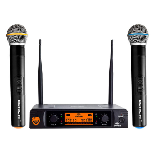 Nady DW-22 Dual Digital Handheld Wireless Microphone System (Refurbished)– FREE SHIPPING