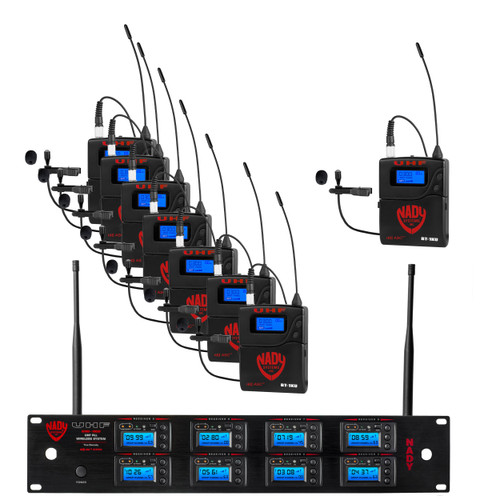 8W-1KU-LT - 8 Transmitter 1000-Channel UHF Lapel Wireless System - FREE SHIPPING