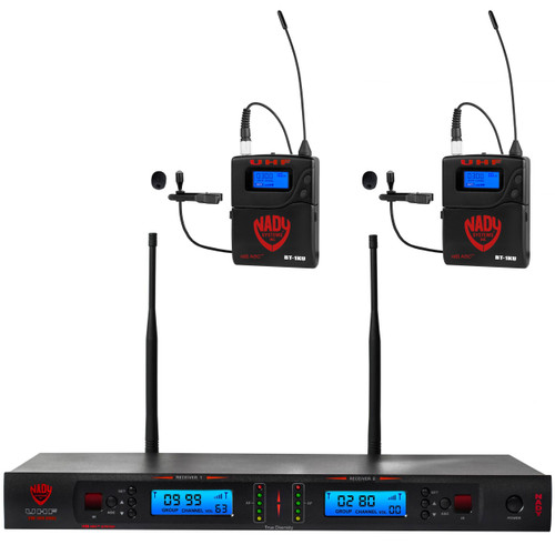 2W-1KU-LT - Dual Transmitter 1000-Channel UHF Lapel Wireless System - FREE SHIPPING