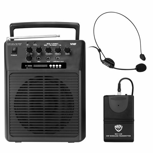 WA-120BT-HM3 - Portable Wireless  PA System w/ Headset Microphone/BLUETOOTH - FREE SHIPPING