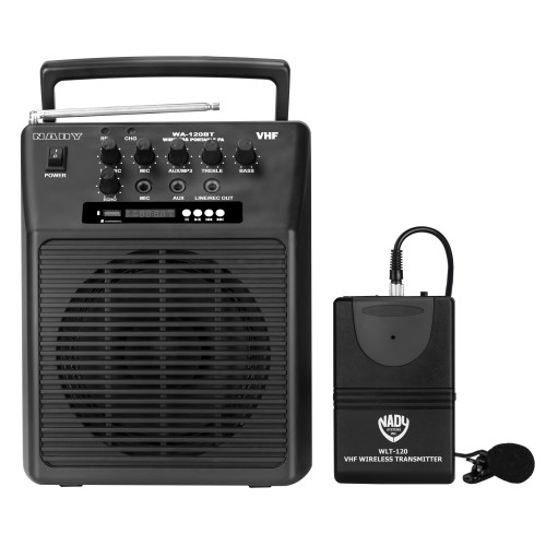 WA-120BT-LT  - Portable Wireless  PA System w/ Lapel Microphone/BLUETOOTH  WITH RB-120 Battery - FREE SHIPPING