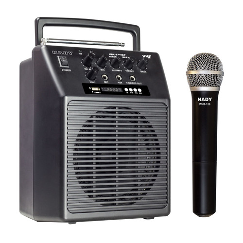 WA-120BT-HT  - Portable Wireless  PA System w/ Handheld Microphone/BLUETOOTH  WITH RB-120 Battery  - FREE SHIPPING