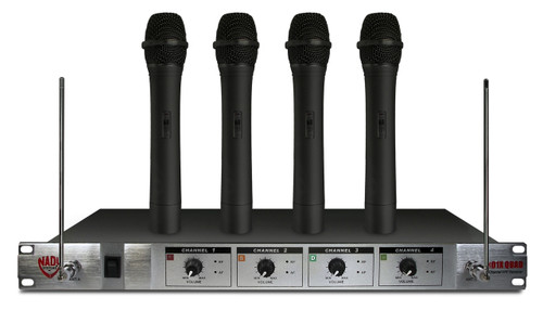 Nady 401X Quad HT 4-Channel Wireless Microphone System *E4,F,H,E (Refurbished)
