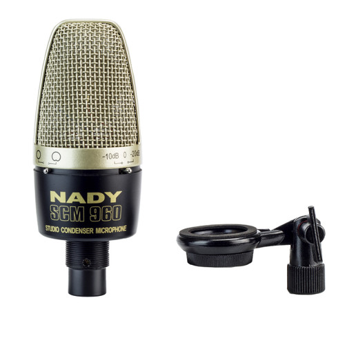 Nady SCM-960 Studio Condenser Microphone with selectable attenuation pad and selectable pickup pattern
