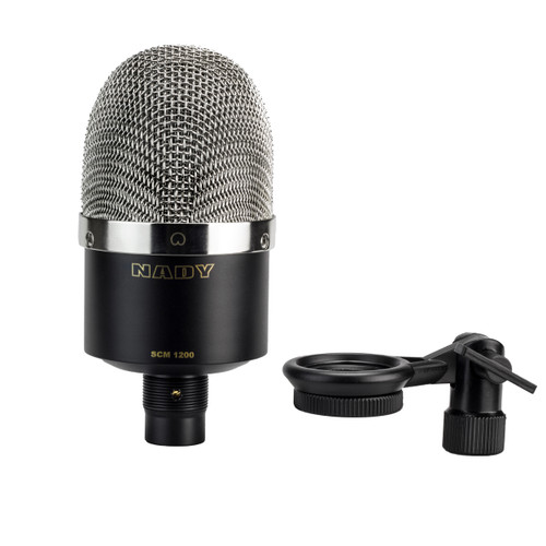 Studio condenser microphone with cardioid pattern