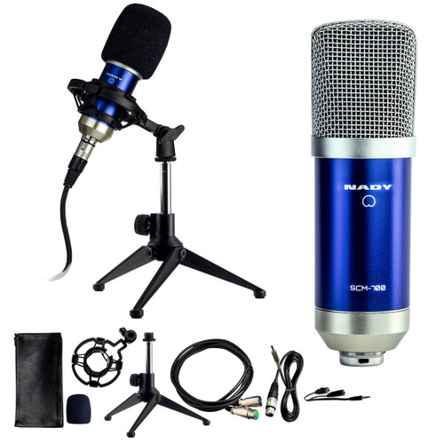 Studio condenser microphone with cardioid pattern only