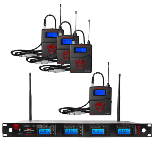 Nady 4W-1KU-GT - Four transmitter 1000-channel UHF Guitar/Instrument  Wireless System (Refurbished ) - FREE SHIPPING