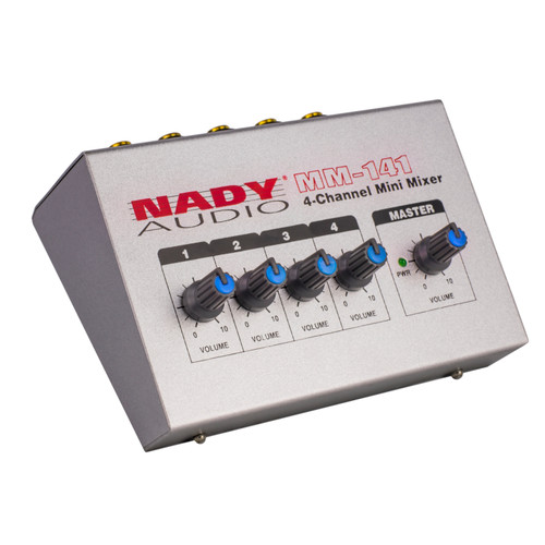 Nady MM-141 4-Channel Mini Mixer WITH PAD-1 Power Supply Adapter (Manufacturer Refurbished) FREE SHIPPING