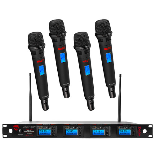 4W-1KU-HT - 4 Transmitter 1000-Channel UHF Handheld Wireless System (Refurbished) - FREE SHIPPING