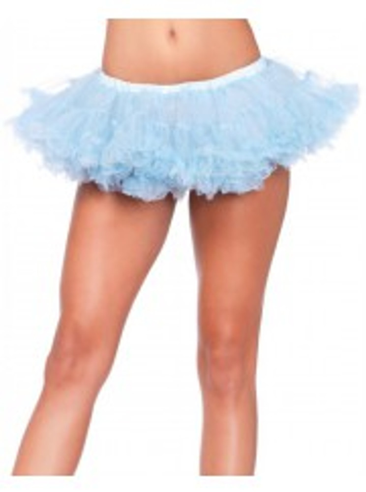 Petticoat Puffy Chiffon Mini Blue