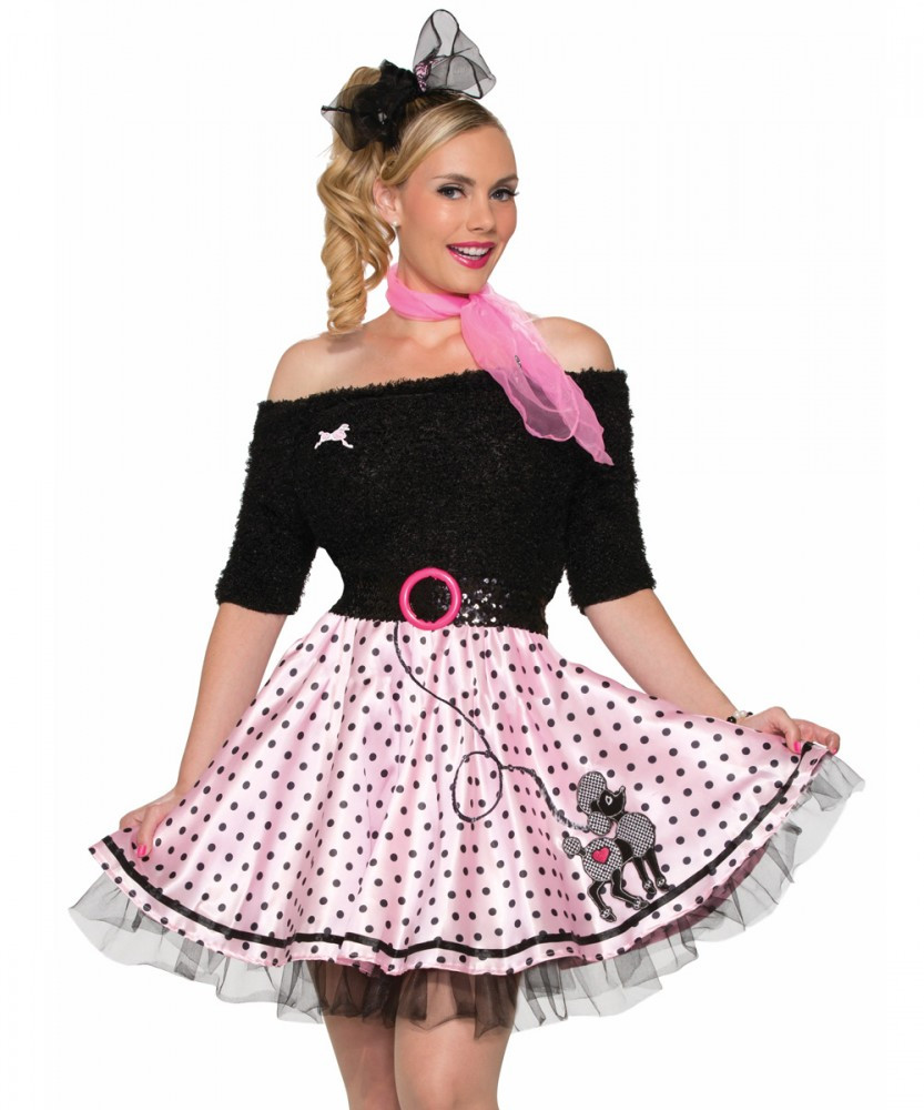 1950s Poodle Polka Dot Womens Skirt