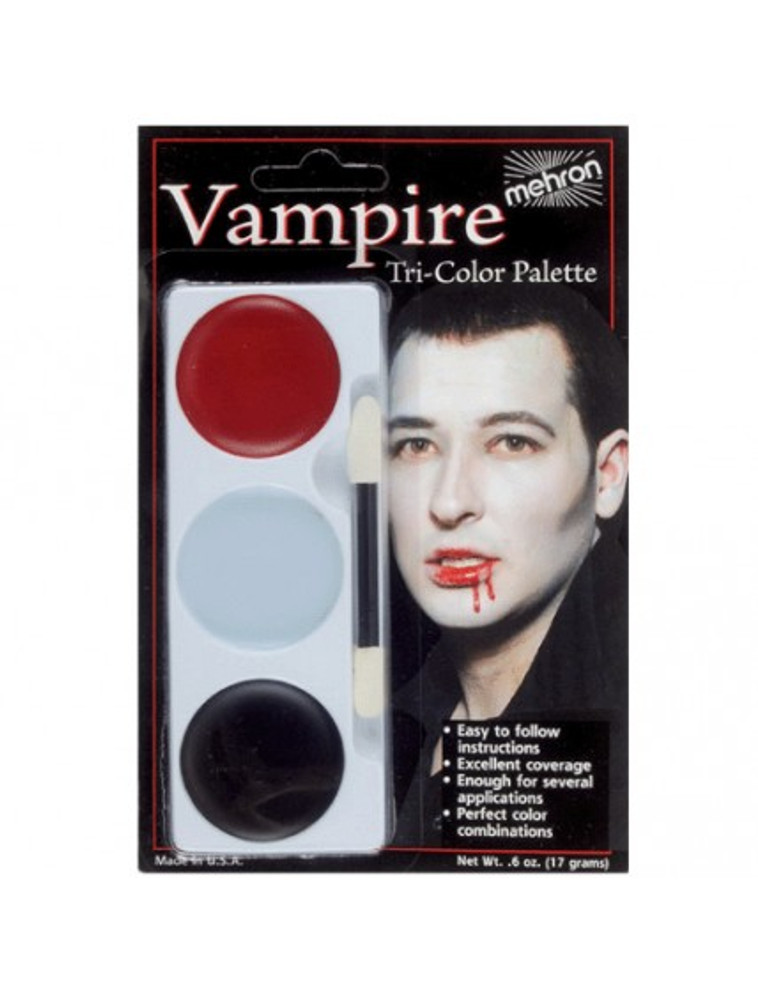Mehron Tri-Colour Make-up Palette - Vampire