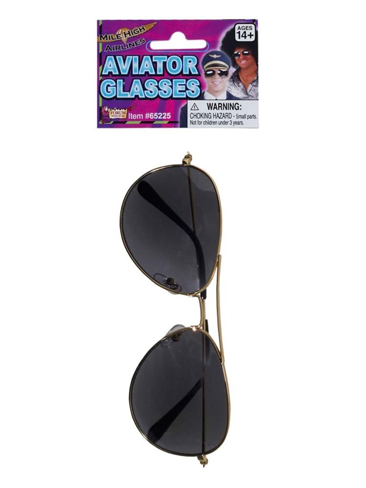 Top Gun Glasses   Aviators Gold