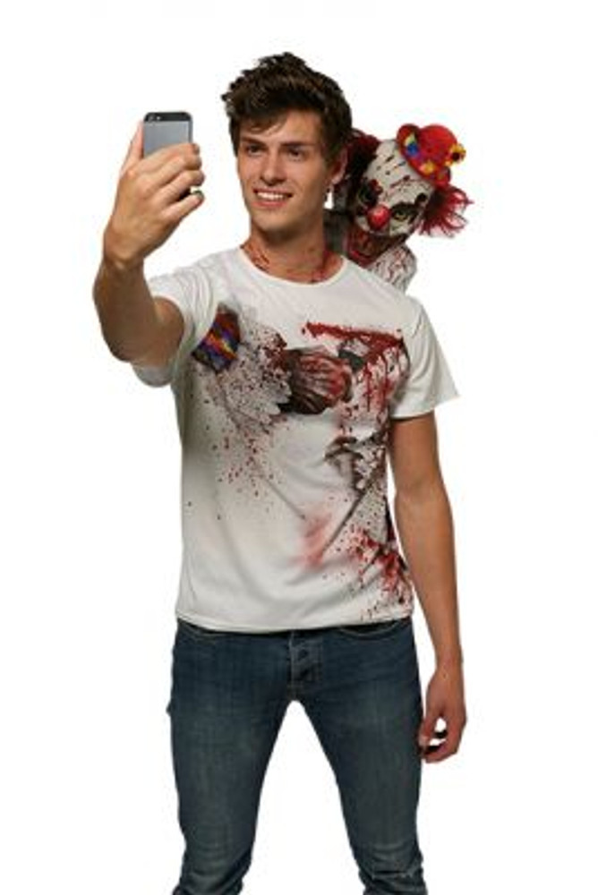 Halloween Clown Selfie Shocker T-Shirt