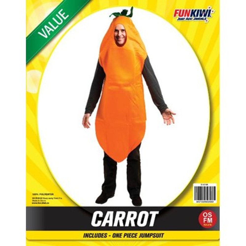 Carrot Food Adult Costume