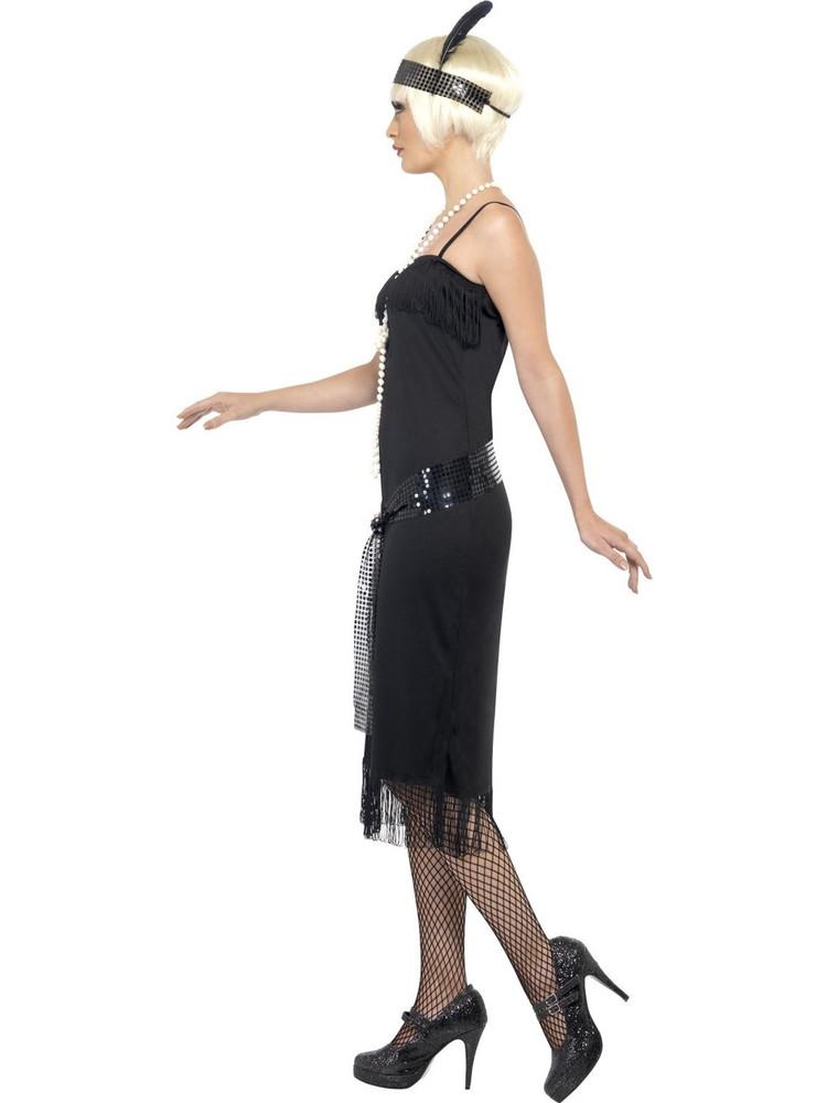 1920's Black Flapper Womens Costume