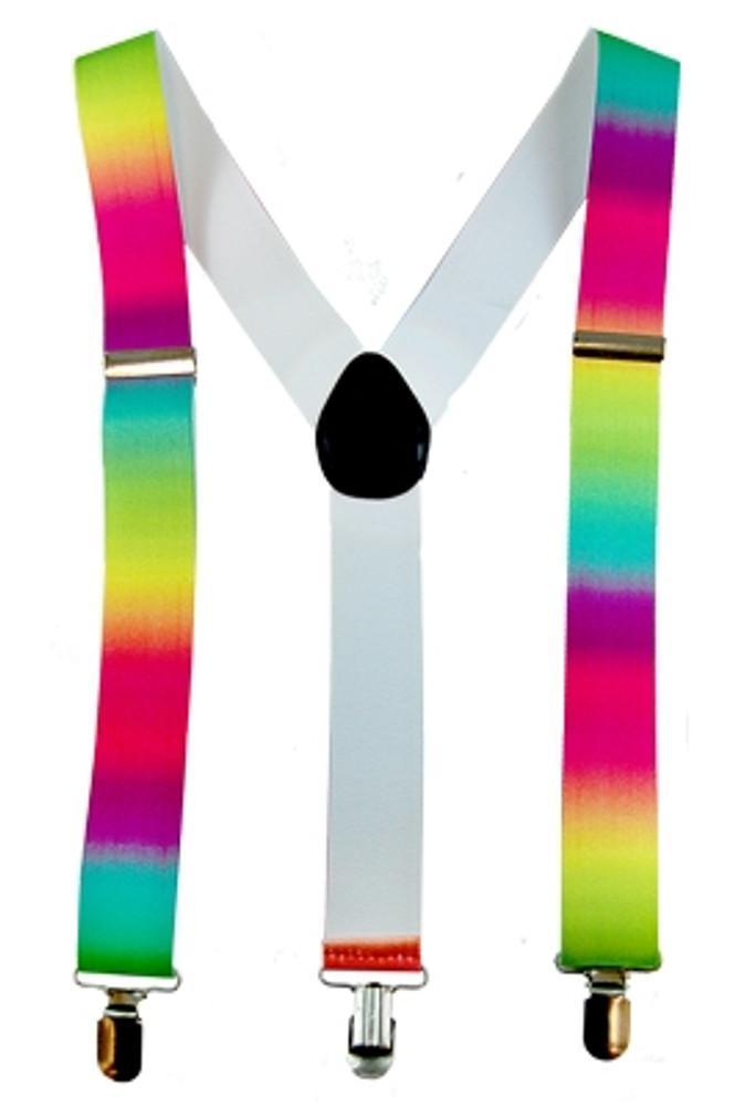 Braces Suspenders - Neon Rainbow