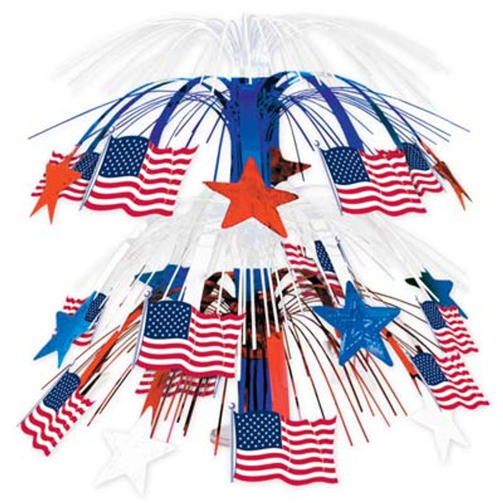 American Flag Cascade Centrepiece