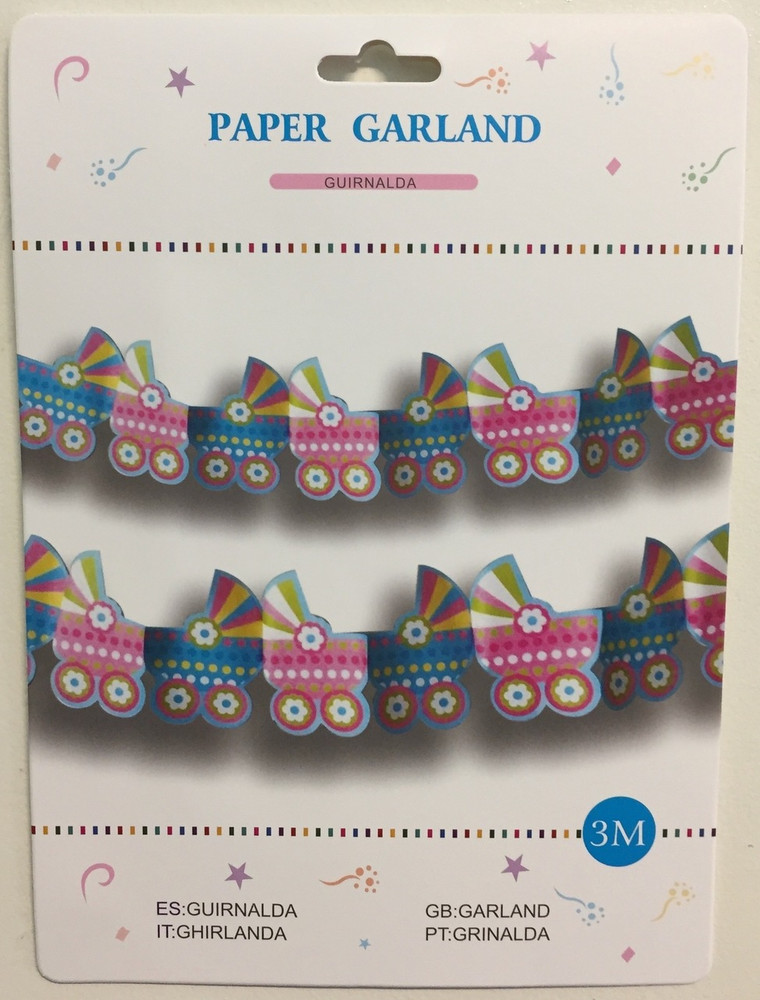 Baby Shower Baby Buggy Garland