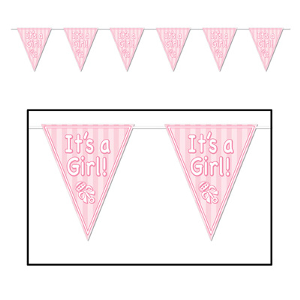 Baby Pennant Banner - It's A Girl