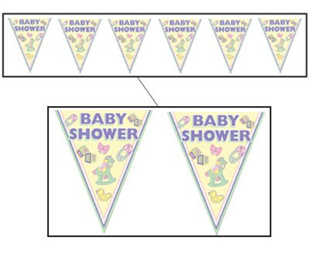 Baby Shower Cuddle Time Pennant Banner