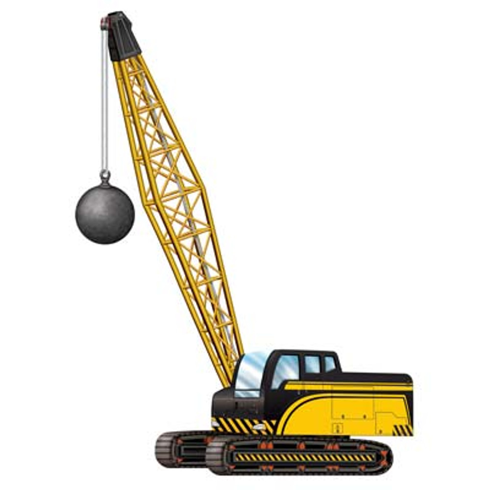 Construction Crane with Wrecking Ball Jointed