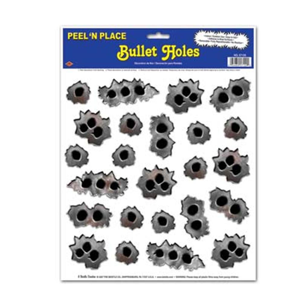Gangster Bullet Hole Peel N Place