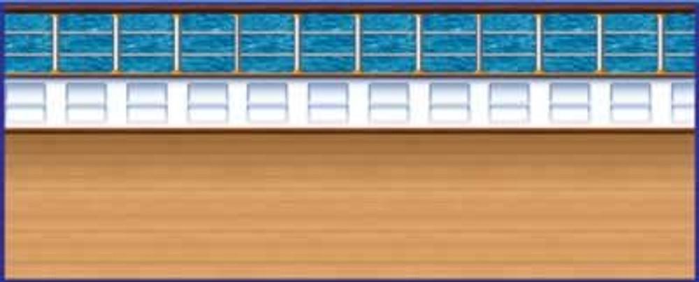 Cruise Ship Deck Backdrop