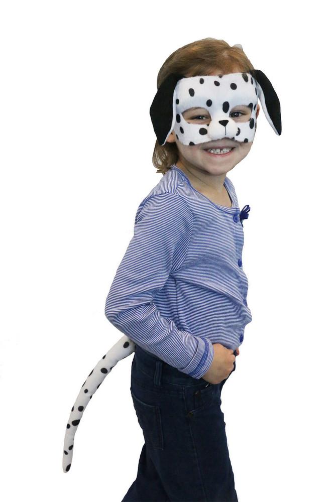 Dalmatian Dog Mask & Tail Set