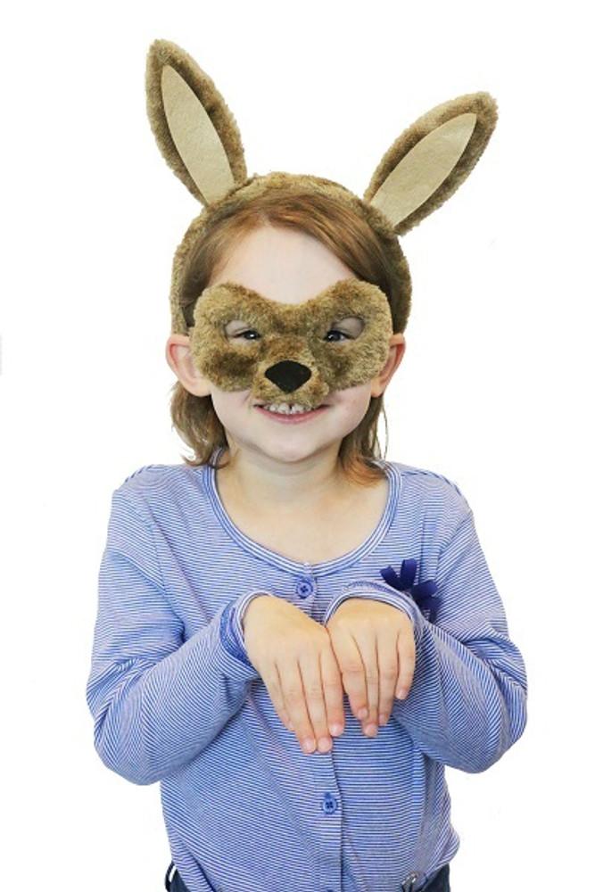 Kangaroo Animal Headband & Mask Set