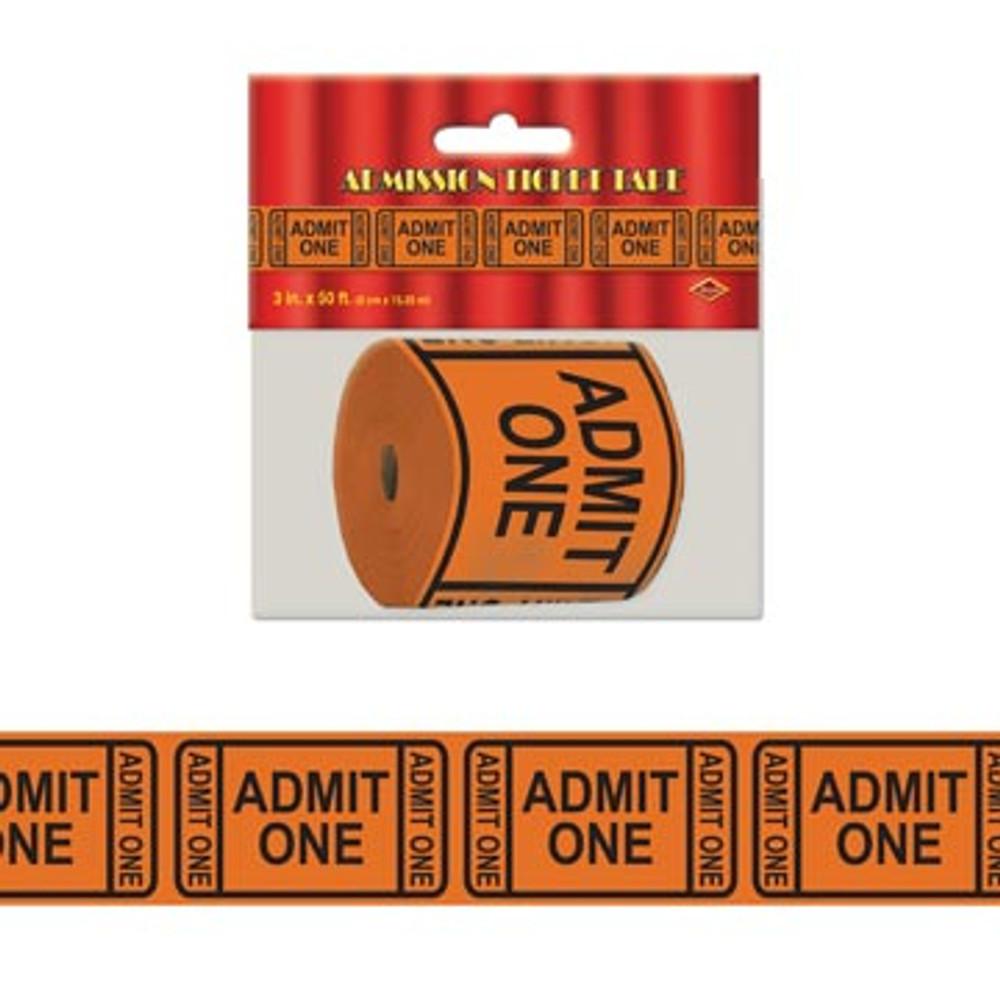 Movie Admit One Tick Tape