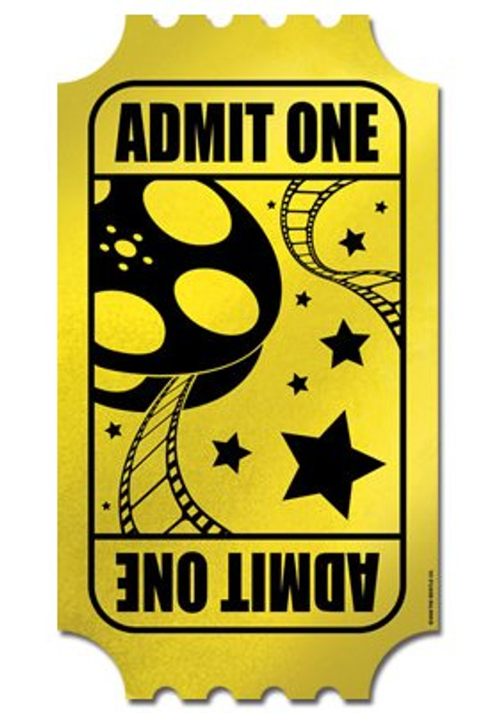 Movie Golden Ticket Cut Out