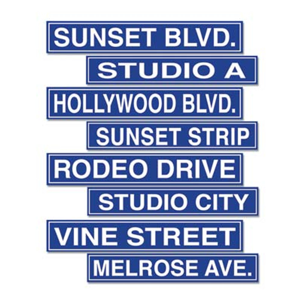 Movie Hollywood Street Sign Cut Outs