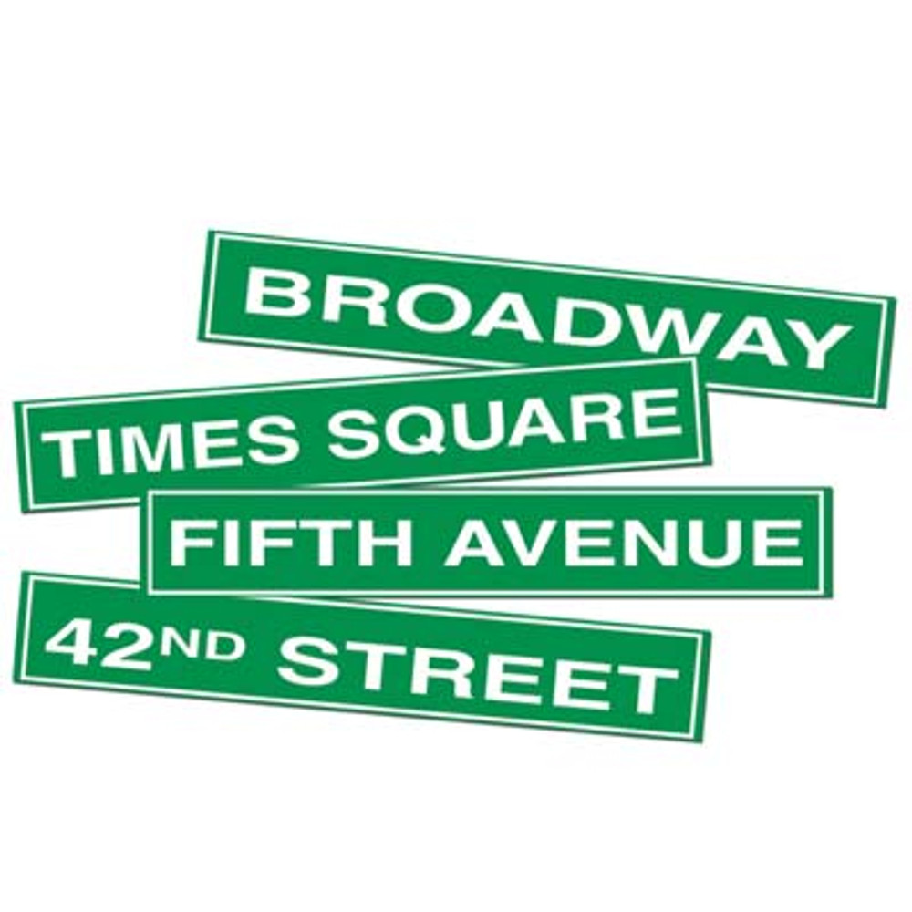 Movie NYC Street Sign Cut Outs