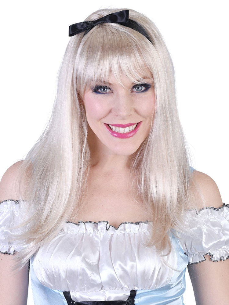 Alice Long Blonde with Fringe Wig
