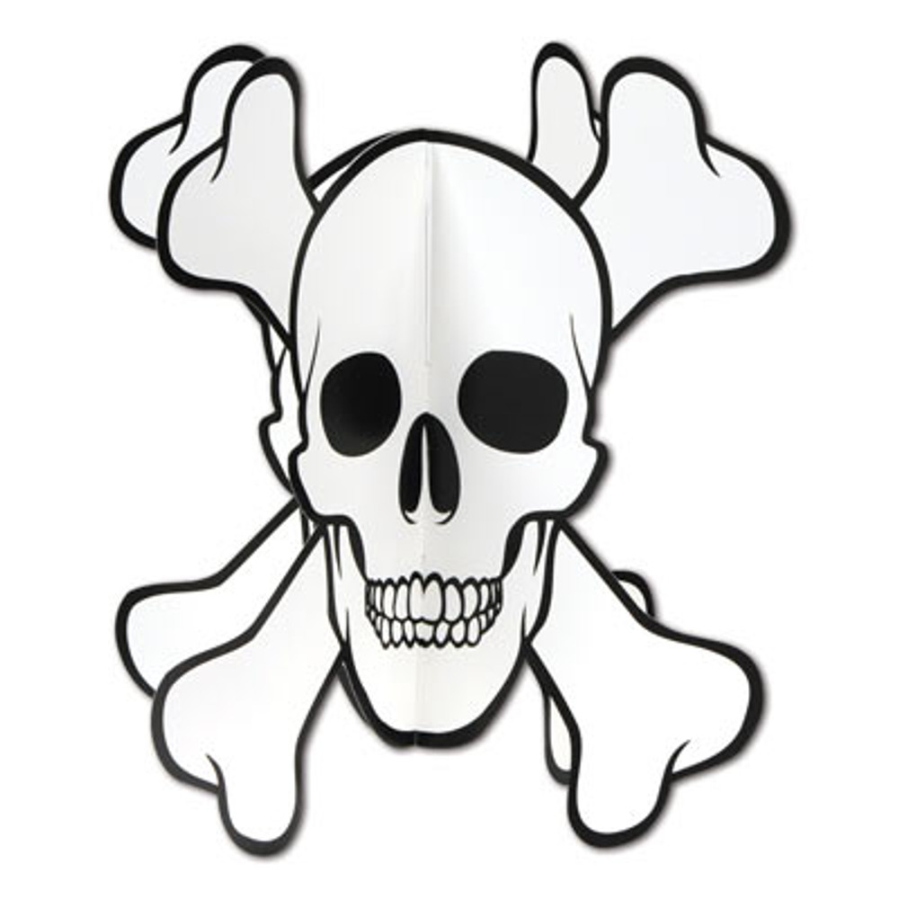 Pirate Skull & Crossbones Centerpiece