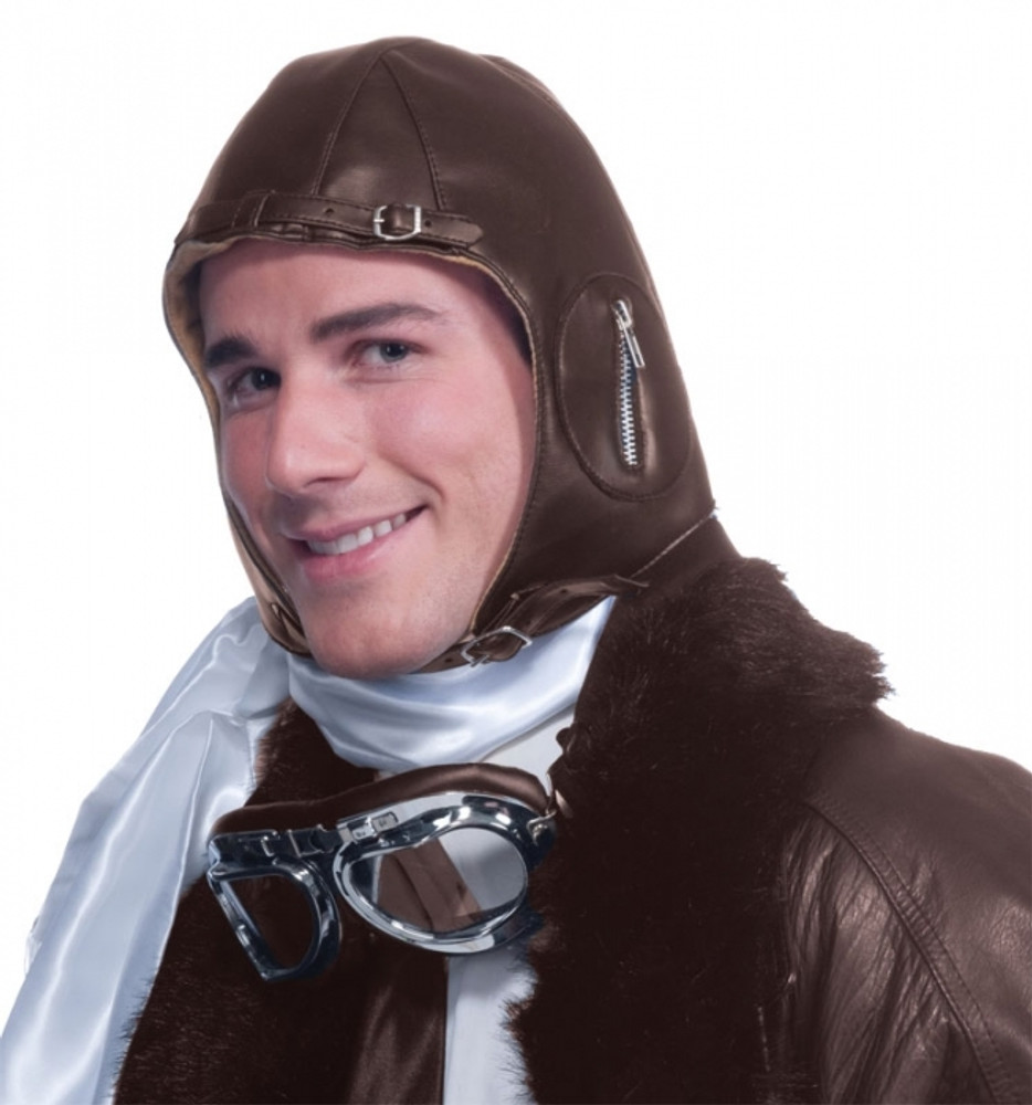 Aviator Helmet Faux Leather