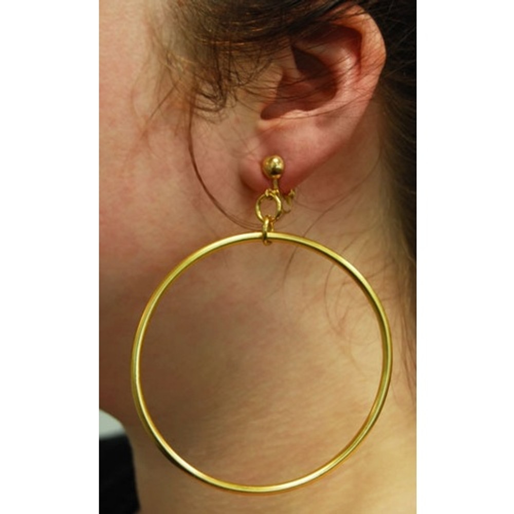 Hoop Earrings Gold Jumbo