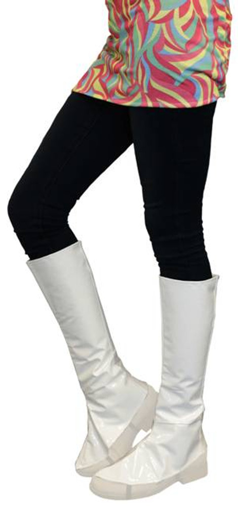 Boot Cover Instant Knee High Boot Tops White