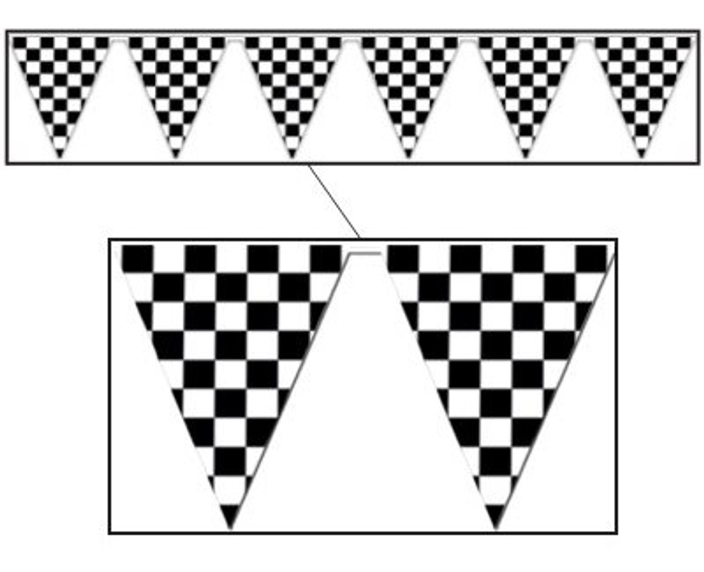 Checked Flag Pennant Banner