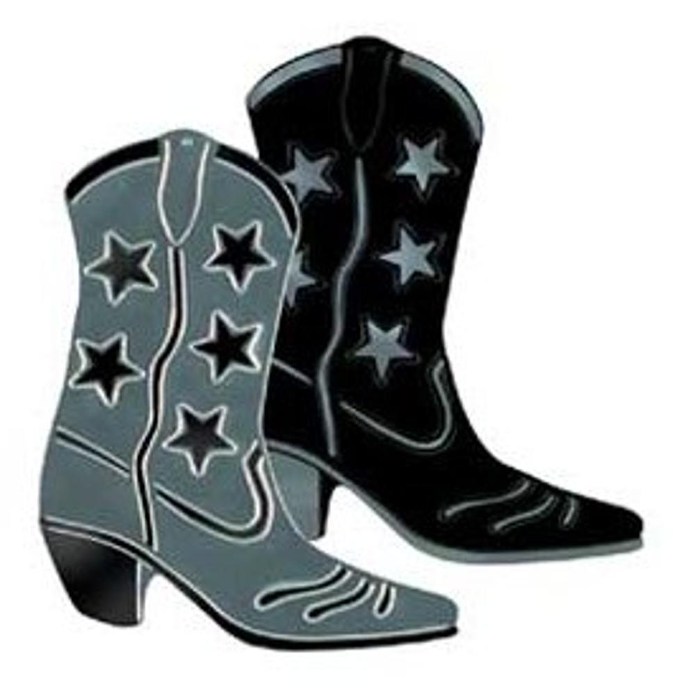 Cowboy Boot Black Foil Cut Out