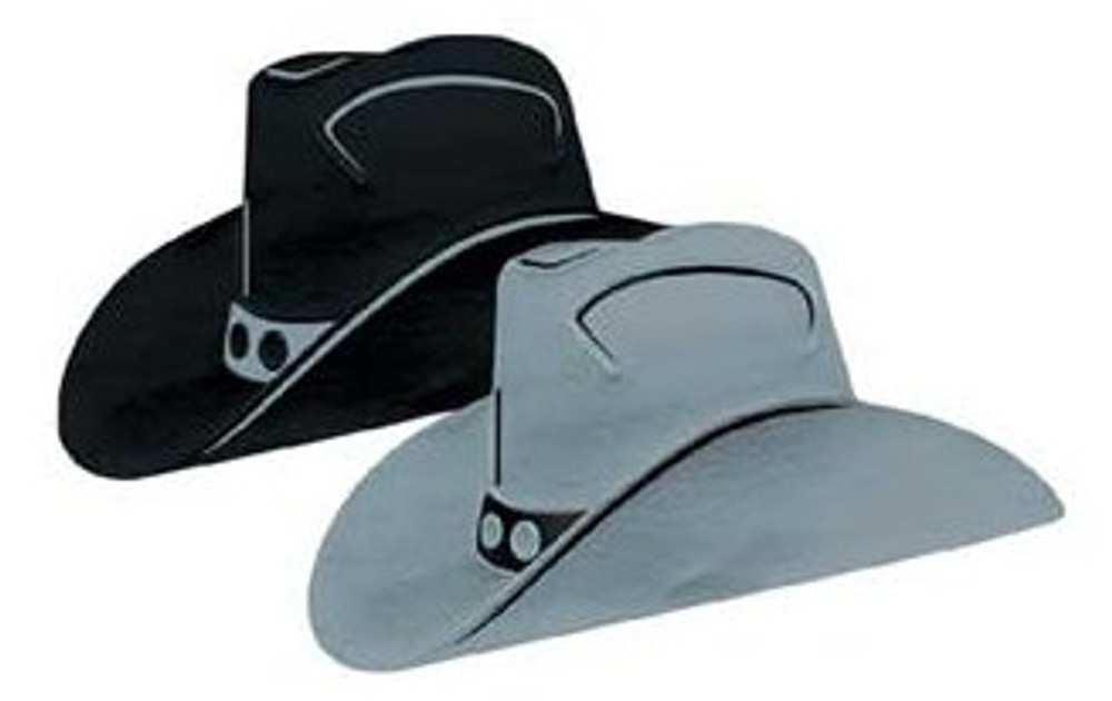 Cowboy Hat Black Foil Cut Out