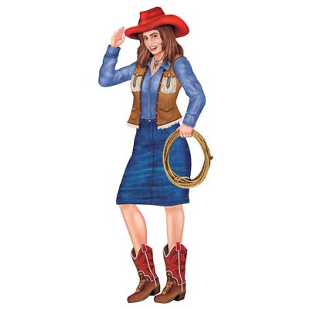 Cowgirl Jointed Cutout